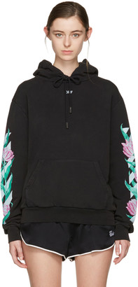 Off-White Black Diagonal Tulips Hoodie $590 thestylecure.com