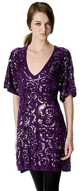 Nanette Lepore Sequin Sweater Dress