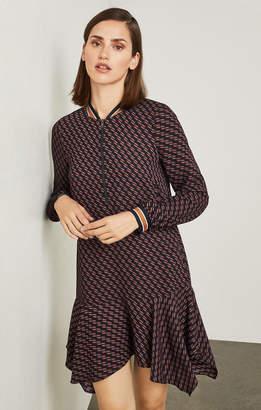 BCBGMAXAZRIA Drew Geometric-Print Dress