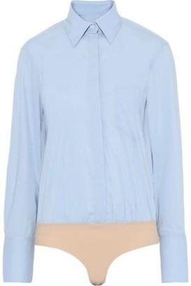 Alix Howard Cotton-blend Poplin Bodysuit