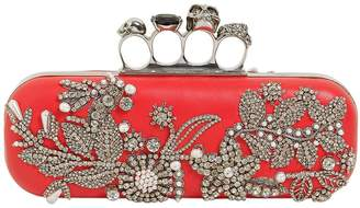 Alexander McQueen Long Leather Knuckle Clutch