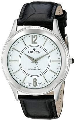 Croton Men's CN307502BSDW Heritage Analog Display Japanese Quartz Black Watch