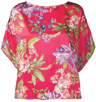 Liu Jo lace trim floral top