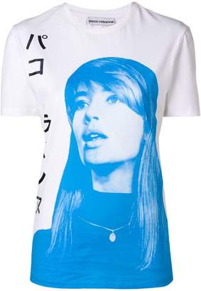 Paco Rabanne girl print T-shirt