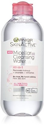 Garnier SkinActive Micellar Cleansing Water All-in-1 Cleanser & Makeup Remover, 13.5 Fluid Ounce $8.99 thestylecure.com