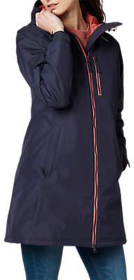Long Belfast Women's Insulated Jacket, Graphite Blue