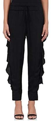 Manning Cartell Women's Ruffle Satin Pants - Black Size 2