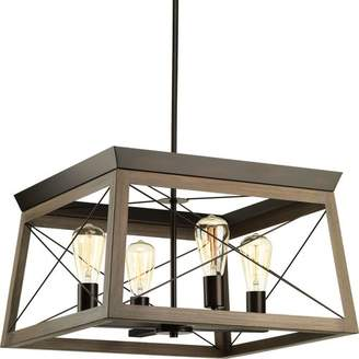 Laurèl Foundry Modern Farmhouse Delon 4-Light Square/Rectangle Chandelier