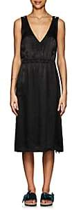 Raquel Allegra Women's Satin Midi-Dress-Black