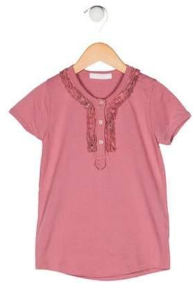 Burberry Girls' Ruffle-Trimmed Top pink Girls' Ruffle-Trimmed Top