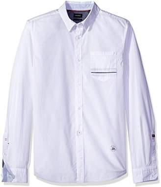 Buffalo David Bitton Men's Savans Long Sleeve Fashion Basic Woven Shirt