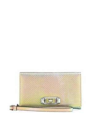 Rebecca Minkoff Lovelock Iridescent Leather Wristlet Phone Bag - iPhone X