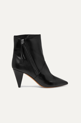 Isabel Marant Latts Leather Ankle Boots - Black
