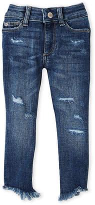 DL1961 Toddler Girls) Chloe Skinny Frayed Hem Jeans