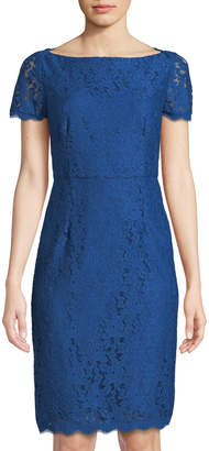 Diane von Furstenberg Ainsley Cap-Sleeve Lace Sheath Dress