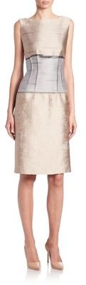 Lafayette 148 New York Jacquard Sleeveless Verona Dress $1,148 thestylecure.com
