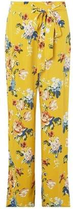 Dorothy Perkins Womens **Tall Yellow Floral Print Palazzo Trousers