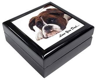 Boxer Dog 'Love You Dad' Keepsake/Jewellery Box Christmas Gift