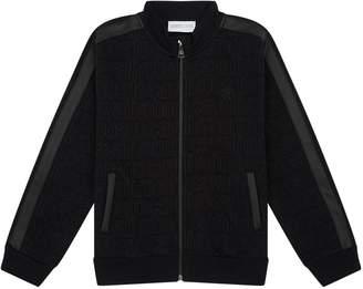 Roberto Cavalli Logo Outline Zipped Sweatshirt