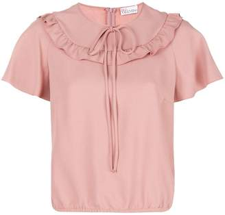 RED Valentino ruffle short-sleeve blouse