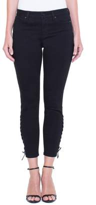 Liverpool Alyssa Lace-Up Crop Skinny Jeans