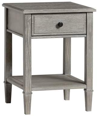 Pottery Barn Teen Fairfax Bedside Table, Smoked Charcoal