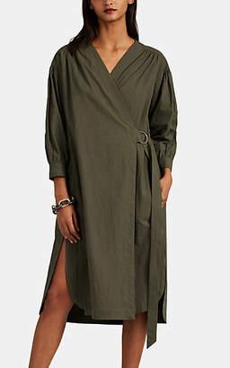 Masscob Women's Marco Cotton Wrap Dress - Green