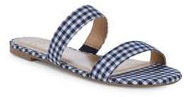 Tammy Gingham Two-Strap Flats
