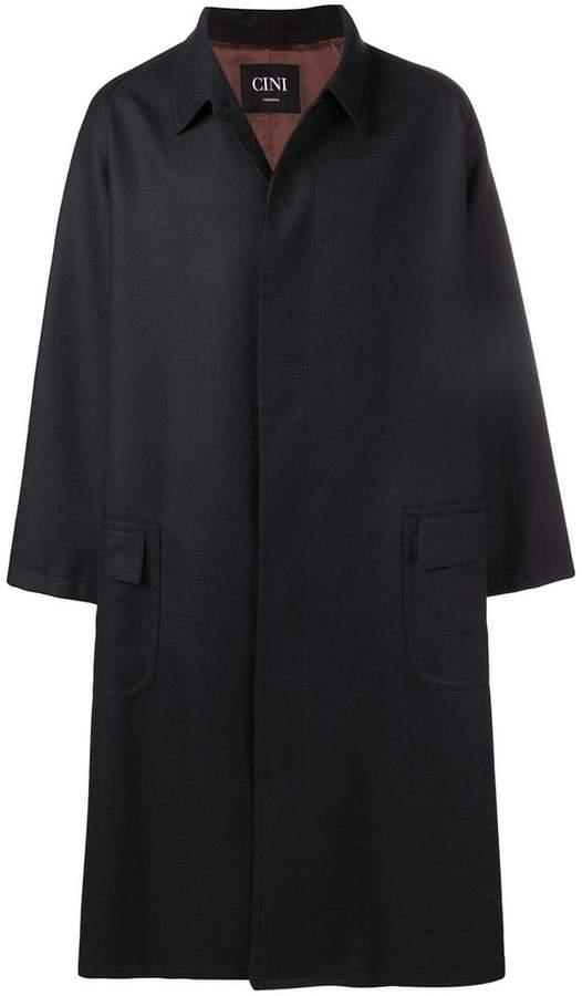 Cini loose fit single breasted coat