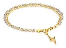 Astley Clarke Women's Labradorite, Sapphire & 18K Goldplated Lightening Bolt Bracelet