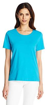 Fresh Women's Basic Short Sleeve Solid Scoop Neck Top