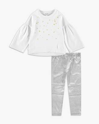 Splendid Little Girl French Terry Embroidred Top Set