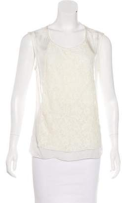 Brochu Walker Silk Lace-Accented Top