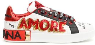 Dolce & Gabbana Portofino Sneakers With Amore Patch