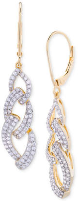 Wrapped in Love Diamond Link Drop Earrings (1 ct. t.w.) in 14k Gold over Sterling Silver