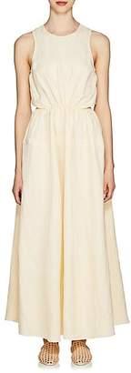 Jil Sander Women's Popover-Back Twill Midi-Dress - Neutral