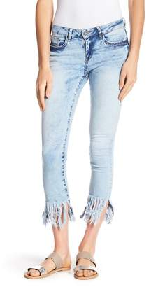 William Rast Frayed Hem Ankle Skinny Jeans