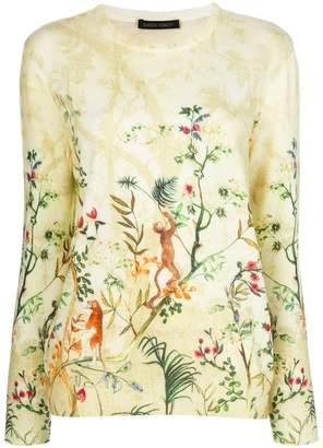 Alberta Ferretti jungle print jumper