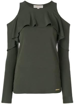 MICHAEL Michael Kors ruffled cold-shoulder blouse