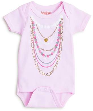 Bloomingdale's Sara Kety Girls' Pearl Necklace Bodysuit - Baby