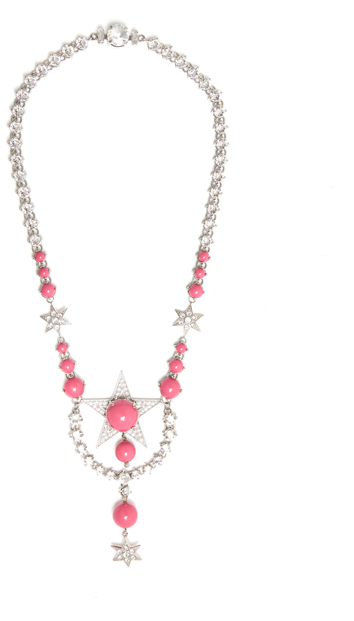 Miu Miu MIU MIU Star crystal-embellished necklace