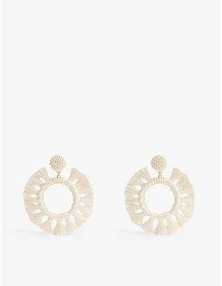 BaubleBar Adrita tasseled hoop earrings