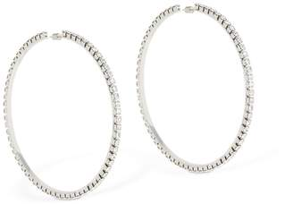 """Area Large 4"""" Classic Round Hoop Earrings"""