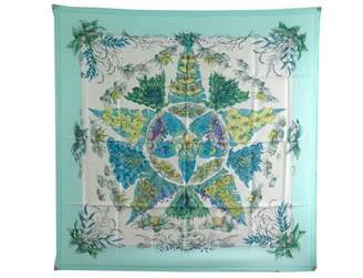 Hermes Vintage Turquoise Silk Scarves