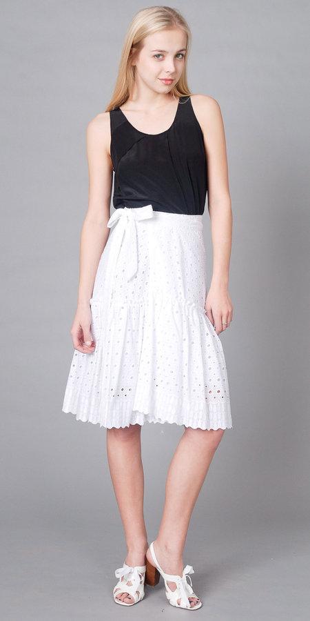 White Eyelet Skirts from Ravon by Von Vonni
