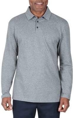 Haggar Regular-Fit Long-Sleeve Cotton Polo