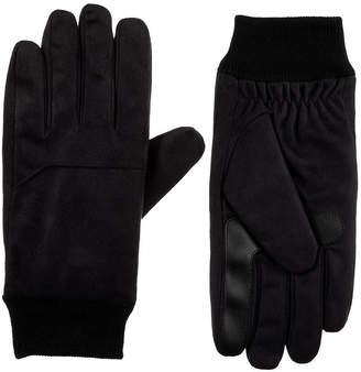 Isotoner Knit Cuff Microfiber Gloves