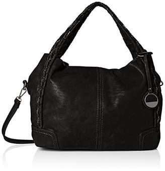MG Collection Slouchy Woven Handle Bag