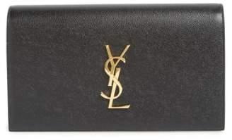 Saint Laurent 'Monogram' Leather Clutch