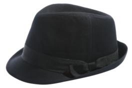 Black Twill Bow-Band Fedora
